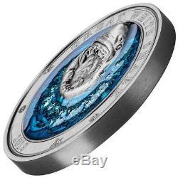 White Shark Underwater World 2018 3 Oz $5 Ultra High Relief Silver Coin Barbados