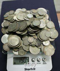 Wholesale Lot Of 1500+ Grams mixed circulation world silver coins. A023