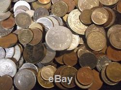 World Coins Over 12 Lbs. Mostly Vintage With Silver Coins-see Photos