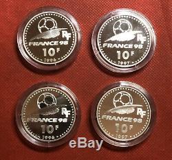 World Cup Silver Coins France 98 Coupe du Monde Monnaies Officielles S#80