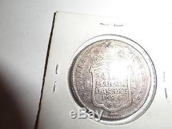 World Foreign Coin 1684 Marck Danske Silver Krone Copenhagen Denmark Extreme Rar