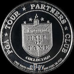 World Golf HOF 1 Ounce. 999 Fine Silver Coin Collection 7 pcs Player, Stewart