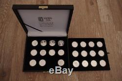 World Golf Hall of Fame 22 Silver Proof Coin Collection Sports with case