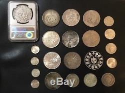 World Silver Coins Lot Of 21 Coins