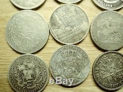 World Silver Crown Size Coin lot